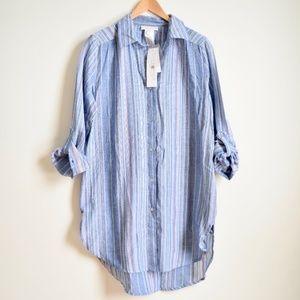 La Blanca Brunch to Boardwalk Button Shirt Dress S